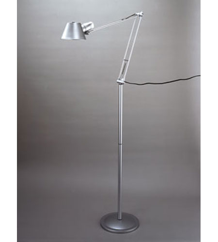 PLC Lighting Studio 1 Light Floor Lamp in Silver 99855-SL photo