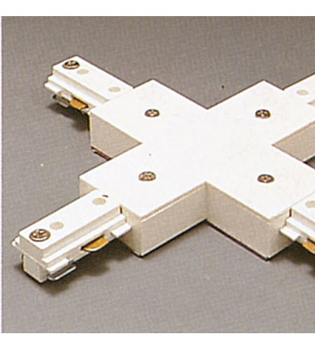 PLC Lighting Track Accessories 1-Circuit X Connector in White TR133-WH photo