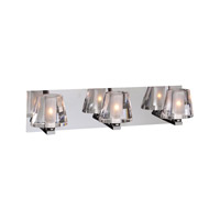 PLC Lighting Cheope Vanity in Polished Chrome with Clear Glass 1023-PC