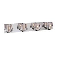 PLC Lighting Cheope Vanity in Polished Chrome with Clear Glass 1024-PC