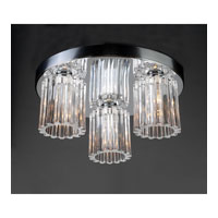 PLC Lighting Felicia Flush Mount in Polished Chrome with Clear Glass 1068-PC
