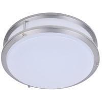 PLC Lighting 1112SN Kirk LED 14 inch Satin Nickel Flush Mount Ceiling Light