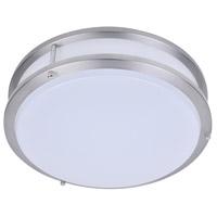 PLC Lighting 1114SN Kirk LED 18 inch Satin Nickel Flush Mount Ceiling Light