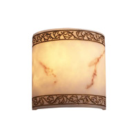 PLC Lighting Elan 1 Light Wall Sconce in Faux Alabaster 1135