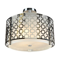Ethen 3 Light 16 inch Polished Chrome Semi-Flush Mount Ceiling Light