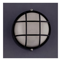 PLC Lighting Marine Outdoor Wall Sconce in Black with Frost Glass 1221/CFL-BK