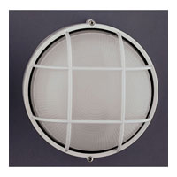 PLC Lighting Marine Outdoor Wall Sconce in White with Frost Glass 1222/CFL-WH