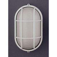 PLC Lighting 1252-WH Marine 1 Light 12 inch White Outdoor Wall Sconce in Incandescent