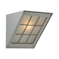 PLC Lighting Bremen 1 Light Outdoor Wall Sconce in Silver 1303-SL
