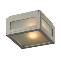 PLC Lighting Bandero 1 Light Outdoor Wall Sconce in Silver 1309-SL alternative photo thumbnail