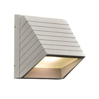 PLC Lighting Le Doux 1 Light Outdoor Wall Sconce in Silver 1311-SL