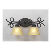 PLC Lighting Rio Bravo Vanity in Oil Rubbed Bronze with Antique Honey Amber Glass 13312-ORB photo thumbnail