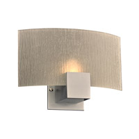 PLC Lighting Cubic Wall Sconce in Silver 1382SL