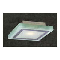 PLC Lighting Slim Wall/Ceiling in Satin Nickel with Acid Frost Glass 1466-SN