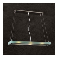 PLC Lighting Slim Pendant in Satin Nickel with Acid Frost Glass 1470/CFL-SN