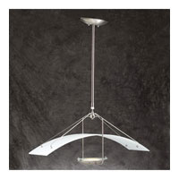 PLC Lighting Parachute Pendant in Satin Nickel with Acid Frost Glass 1480-SN