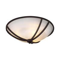 PLC Lighting 14863-ORB Highland 3 Light 16 inch Oil Rubbed Bronze Flush Mount Ceiling Light