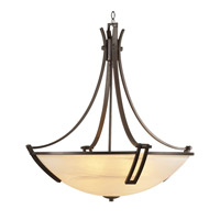PLC Lighting Highland Chandelier in Oil Rubbed Bronze with Marbleized Glass 14866/CFL-ORB
