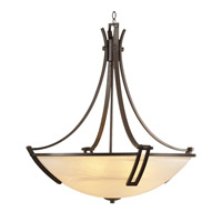 PLC Lighting Highland Chandelier in Oil Rubbed Bronze with Marbleized Glass 14869/CFL-ORB