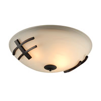 PLC Lighting Antasia 2 Light Flush Mount in Oil Rubbed Bronze 14872-ORB