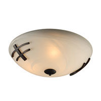 PLC Lighting Antasia 3 Light Flush Mount in Oil Rubbed Bronze 14875-ORB