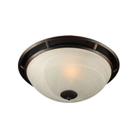 Compass 1 Light 14 inch Oil Rubbed Bronze Flush Mount Ceiling Light in Standard