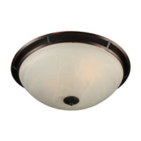 Compass 2 Light 18 inch Oil Rubbed Bronze Flush Mount Ceiling Light