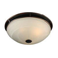 PLC Lighting Compass 3 Light Flush Mount in Oil Rubbed Bronze 14889-ORB