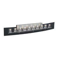 PLC Lighting Ice Cube Vanity in Satin Nickel with Clear Glass 1536-SN