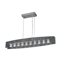PLC Lighting Ice Cube Pendant in Satin Nickel with Clear Glass 1538-SN