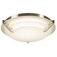 PLC Lighting 1544SN Palladium LED 13 inch Satin Nickel Flush Mount Ceiling Light