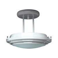 Cascade 1 Light 13 inch Polished Brass Semi-Flush Mount Ceiling Light
