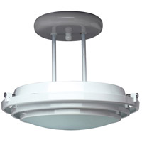 Cascade 1 Light 13 inch Black Semi-Flush Mount Ceiling Light