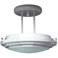 PLC Lighting 1614-BK Cascade 1 Light 13 inch Black Semi-Flush Mount Ceiling Light