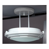 Cascade 1 Light 16 inch Polished Brass Semi-Flush Mount Ceiling Light