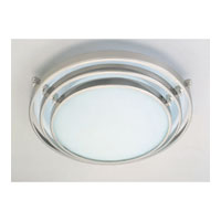 PLC Lighting Cascade Flush Mount in Satin Nickel with Acid Frost Glass 1619-SN