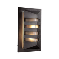 PLC Lighting De Majo 1 Light Outdoor Wall Light in Bronze 16611BZ126GU24