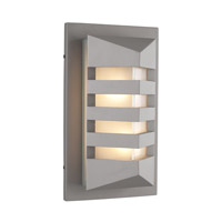 PLC Lighting De Majo 1 Light Outdoor Wall Light in Silver 16611SL126GU24