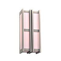PLC Lighting Freeport 2 Light Outdoor Wall Light in Silver 16634SL226GU24