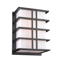 PLC Lighting Amore Outdoor Wall Sconce in Bronze with Matte Opal Glass 16646/CFL-BZ