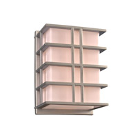 PLC Lighting Amore 1 Light Outdoor Wall Light in Silver 16646SL126GU24