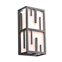 Keller 2 Light 18 inch Bronze Outdoor Wall Light in GU24