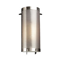 PLC Lighting Girasole Sconce in Satin Nickel with Acid Frost Glass 1666-SN