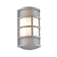 Olsay 1 Light 15 inch Silver Outdoor Wall Light in Fluorescent