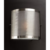 PLC Lighting Girasole Sconce in Satin Nickel with Acid Frost Glass 1668/CFL-SN