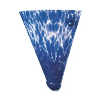 PLC Lighting Rio 1 Light Sconce in White and Cobalt Blue Glass 1705-BLUE