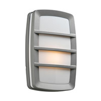 PLC Lighting Aston 1 Light CFL Outdoor Wall Sconce in Silver 1734-SL-CFL