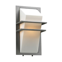 PLC Lighting Juventus 1 Light CFL Outdoor Wall Sconce in Silver 1741-SL-CFL