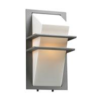 PLC Lighting 1741SL126Q Juventus 1 Light 14 inch Silver Outdoor Wall Light