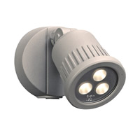 PLC Lighting 1763SL Ledra LED 6 inch Silver Outdoor Wall Light